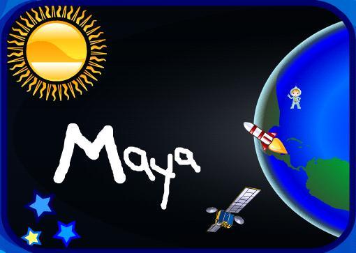הציור של maya 3