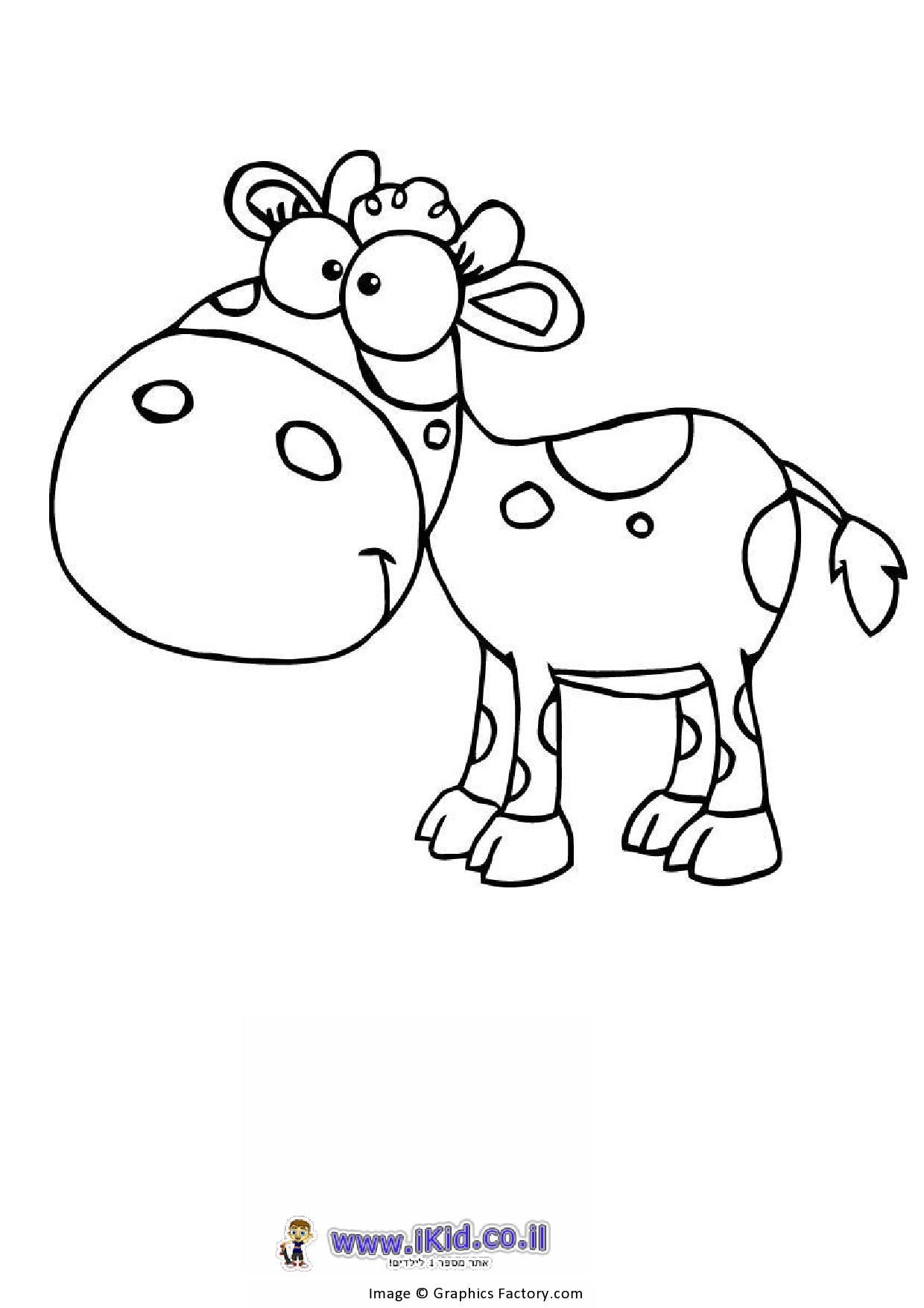 פרה קריקטורית
