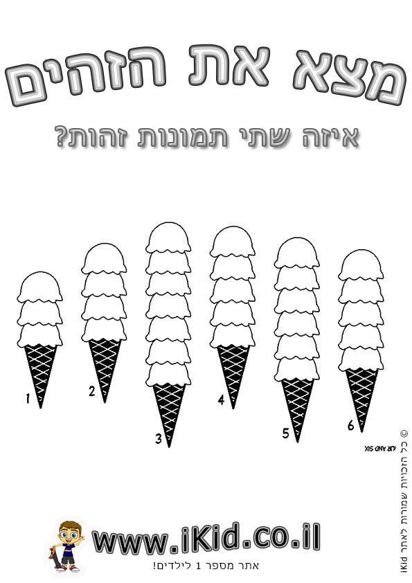 גלידות זהות
