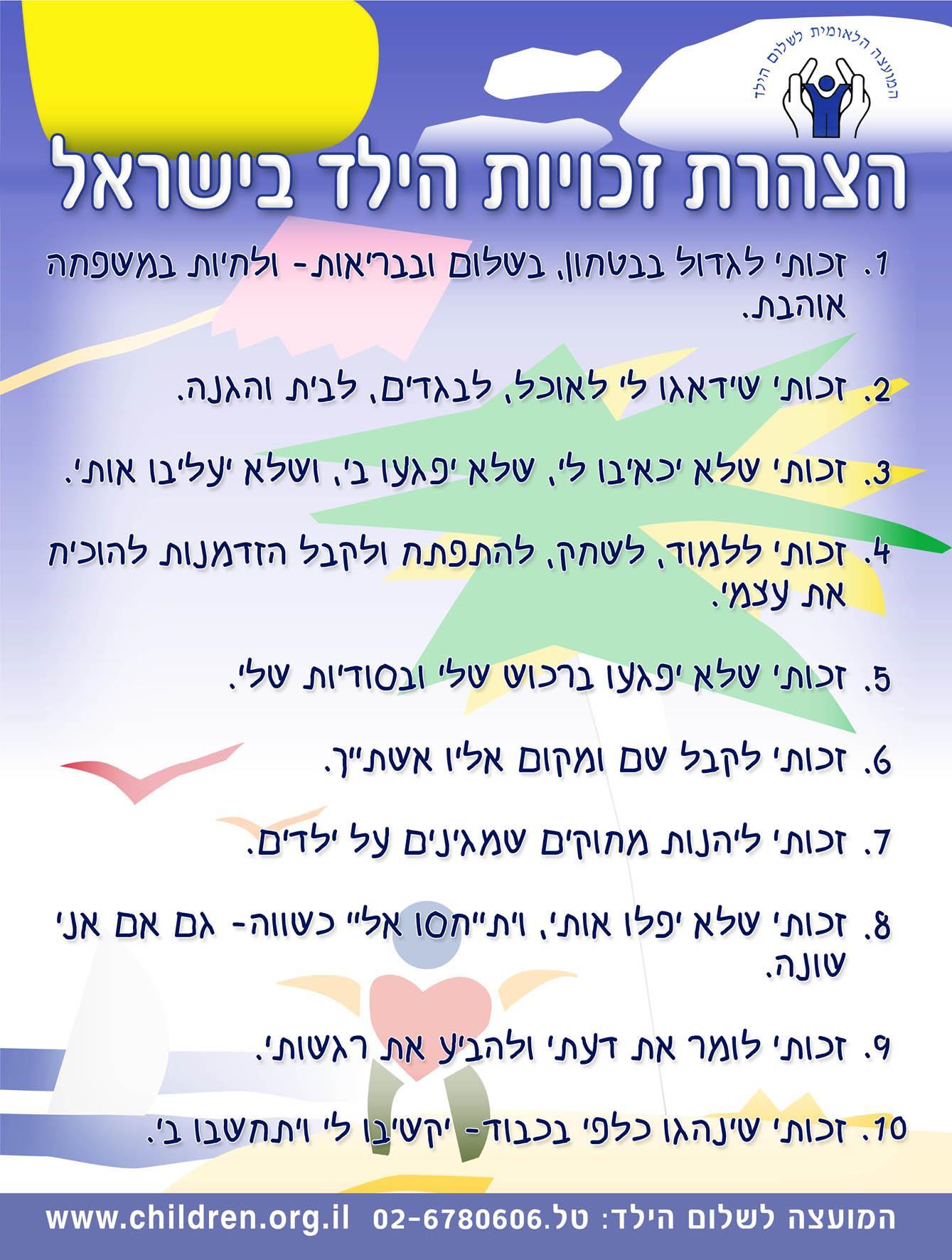 הצהרת זכויות הילד - שפת הילדים