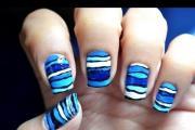 מריחת לק - גלים כחולים