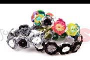גומילום - איך להכין צמיד פרחים