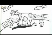 איך מציירים פרה