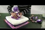 איך לארוז מגבת בצורת עוגה