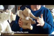איך ליצור פיל מעיסת נייר