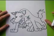 איך מציירים זאב