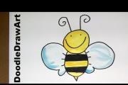 איך מציירים דבורה