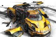 מכונית מרוסקת